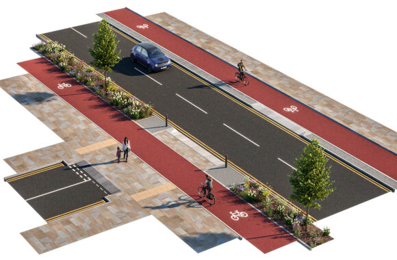 Continuous Pavement & Cycle Tracks
